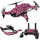 MightySkins Skin For DJI Max Coverage - Pink Leopard | Protective, Durable, and Unique Vinyl Decal wrap cover | Easy To Apply, Remove, and Change Styles | Made in the USA