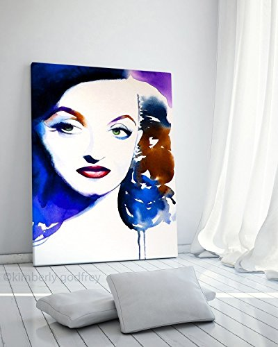 Fine Art Print of Bette Daviis 40s Style Interior Design Old Hollywood Blue Salon Decor (Old Hollywood Posters)