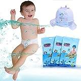 Disposable Swim Diaper Comfortable Breathable Baby Swimpants Infant Pool Pant by Pueri (L)