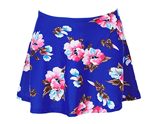 JOYMODE Women's Solid Black Skirted Bikini Bottom Skirt Swimdress Plus Size - Pattern Bikini Bottom Swimsuit