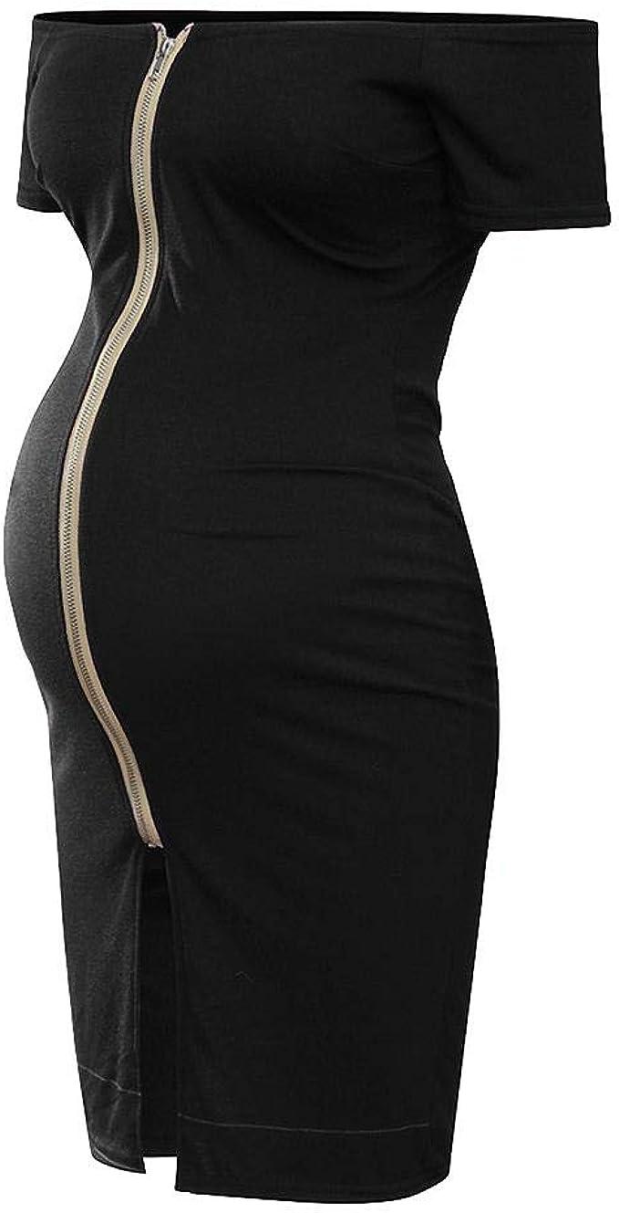 Women/'s Ladies Off Shoulder Baggy Short Sleeves Lagenlook Tunic Maternity Dress