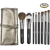 Matto Goat Hair Makeup Brushes Professional 8-Piece Travel Make Up Brush Set Make-up Brushes with Cosmetics Bag