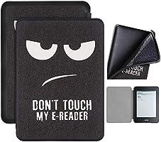Capa Kindle Paperwhite 10ª geração à prova d'água - Função Liga/Desliga - Fechamento magnético - Silicone - Don't Touch...