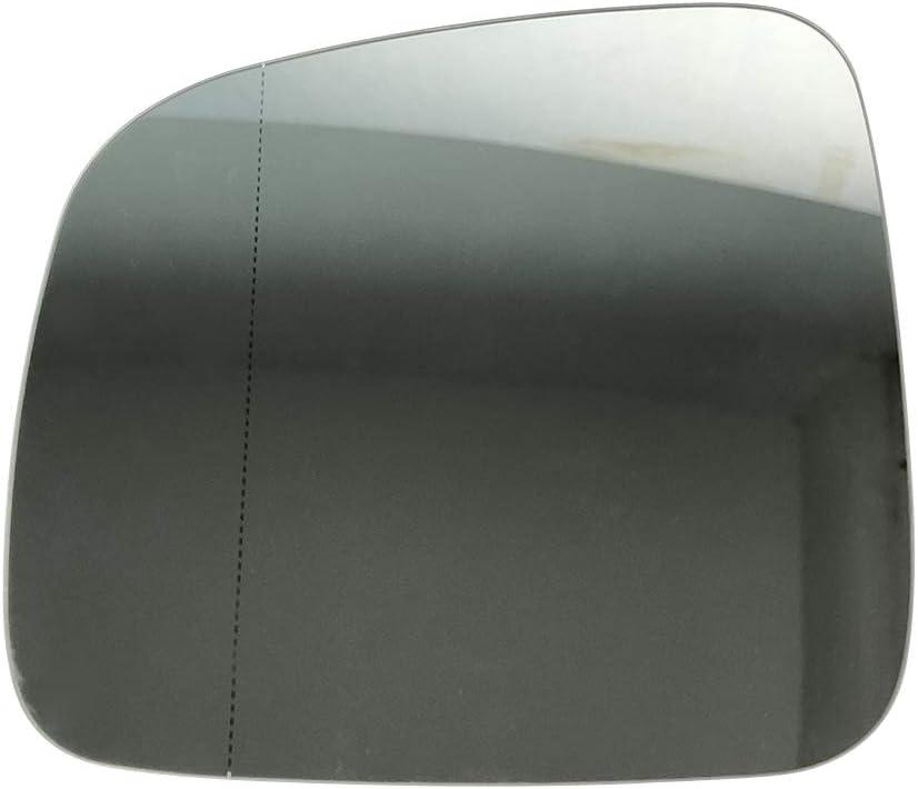 PICFA 7E1857522 Miroir Verre pour R/étroviseur Ext/érieur Droit Chauffant avec Plaque De Renfort pour Volkswagen VW T5 Transporter Multivan Caravelle California 03-05