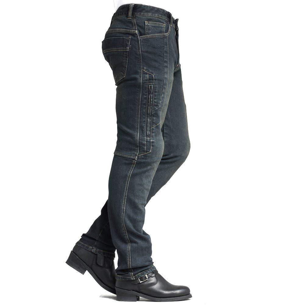 MAXLER Jean Biker Jeans for Men Motorcycle Motorbike Riding Jeans 1617 Grey 40