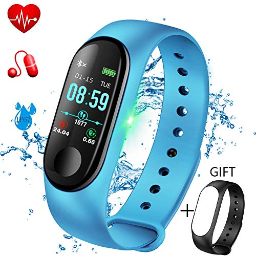 Activity Tracker, LIGE Fitness Trackers Pedometer Smart Watch, Fitness Watch Sports Bracelet with Heart Rate Monitor Sleep Monitoring Calorie Counter,Smart Bracelet for Men Women Kids +Gift