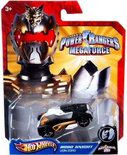 Hot Wheels Power Rangers Megaforce 1:50 Die Cast Car Robo Knight Lion Zord