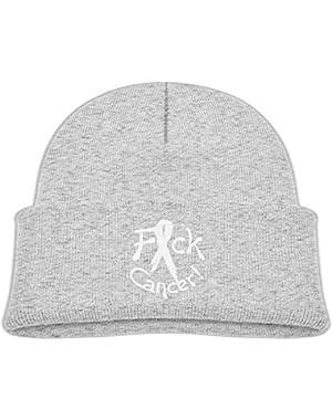 Warm FCK Cancer Printed Newborn Baby Winter Hat Beanie