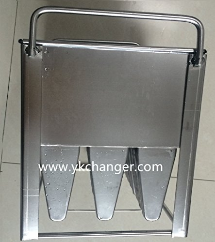 Manuel Use Ice Lolly Mould Stainless Steel Ice Cream Mould Frozen Pop Mold with Stick Holder by Ykchanger