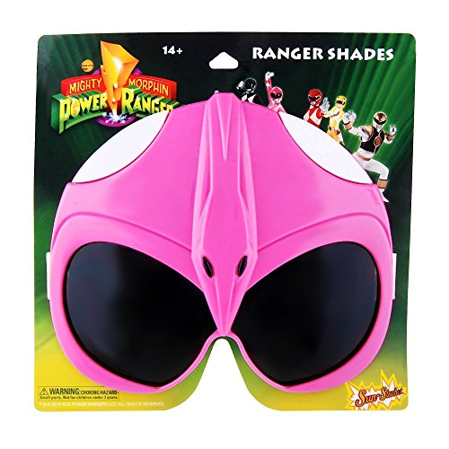 Pink Power Ranger Costumes (Sun-Staches H2W Officially Licensed Pink Power Rangers Sunstaches Sunglasses)