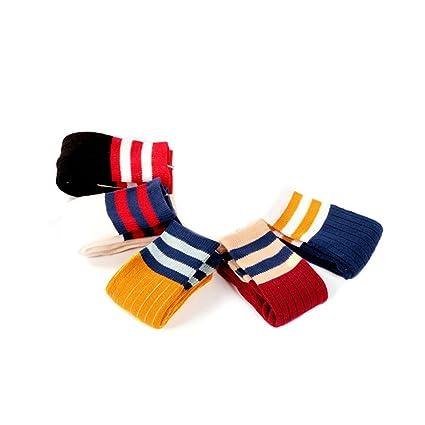 Mango Tree 5 pares algodón suave trimestre rayas calcetines antideslizantes para bebé niños niños pequeños (