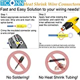 TICONN 250PCS Heat Shrink Wire