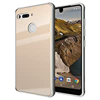 Essential Phone PH-1 Case, TUDIA [Ceramic Feel] Lightweight [GLOST] TPU Bumper Shock Absorption Cover Featuring [Tempered Glass Back Panel] for Essential Phone PH-1