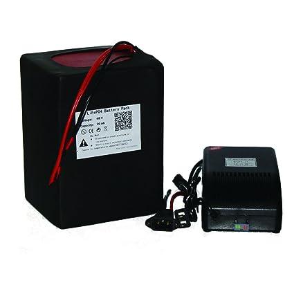 48 V 20 AH LiFePO4 Batería de litio batería potente + BMS 3 ...