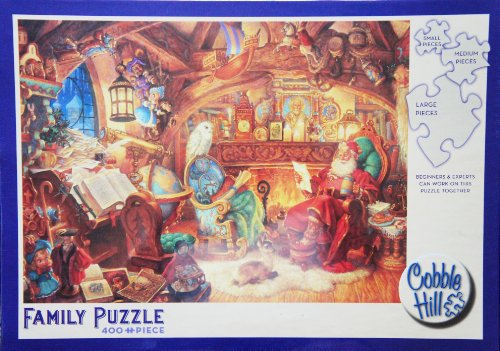 Cobble Hill Family Puzzle St. Nicholas in His Study 400 Piece Puzzle MADE IN USA PUZZLE