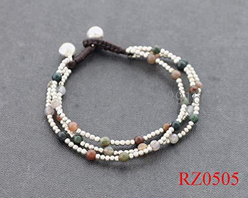 (Gabcus New Produce Fashion Jewelry Natural 4mm Stone Buddhist India Stone Prayer Beads Mala Bracelets Weave Bracelet)