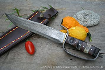 Fabricado en Francia de acero de Damasco cuchillo dershogun ...