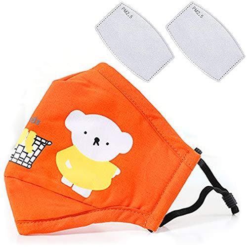 Cartoon bears cotton dustproof for children Orange