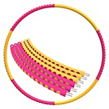 Mike Sport Weighted Hula Hoop 3lb for Adults for Exercise, Fitness, Fat Burning, and Lose Weight (Orange&Red) Review