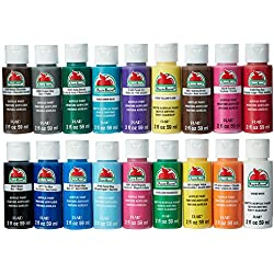 Acrylic Paint Set, 18 Pieces