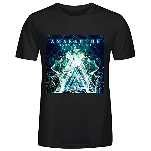 Amaranthe Burn With Me T Shirts For Men Black
