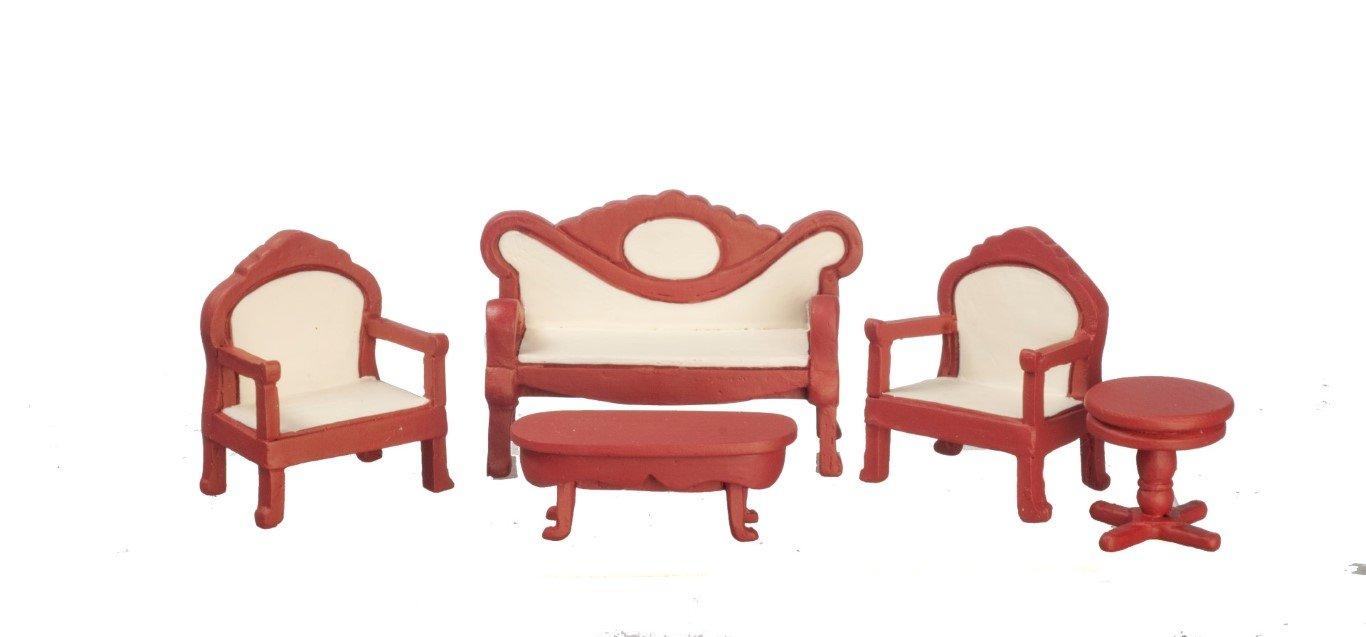 Melody Jane Casa Muñecas Sala de Estar Conjunto Muebles 1:24 Media Pulgada Escala