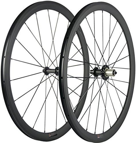 Wilee バイク バサルトブレーキ 表面 38mm クリンチャー 幅23mm ロードカーボンホイールセット 3K マット自転車ホイール R51ハブ付き