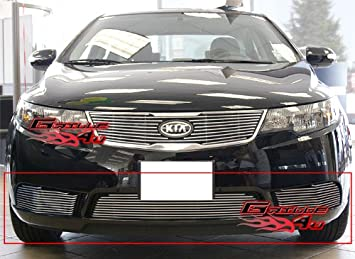 APS Compatible with 10-11 2011 Kia Forte Sedan Lower Bumper Billet Grille Grill Insert N19-A71766K