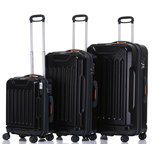 Jeep Luggage Dune 2018 3 Piece Sets spinner wheels (Black)