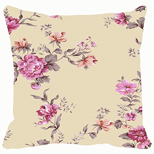 (bag pack home Floral Element Design Pattern Backgrounds Textures Wallpaper Illustrations Clip Art Throw Pillow Case Cushion Cover Pillowcase Watercolor 18x18 for Couch )