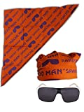Macho Man Randy Savage Colored Costume Glasses Bandana-Orange