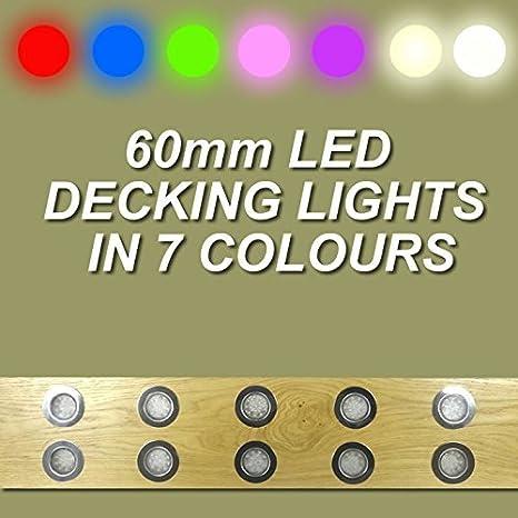 10 x 60 mm LED rojo tabla/resistentes/zócalo de la/tabla para aprender a nadar/empotrable kitchen/Garden luces de: Amazon.es: Iluminación