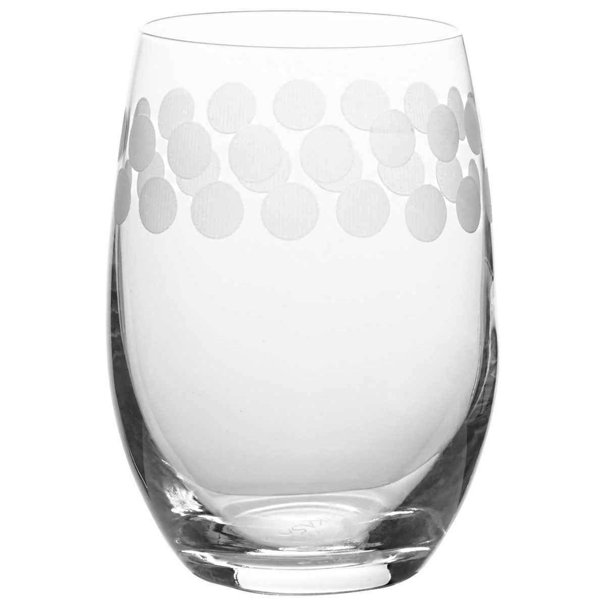 Mikasa Cheers Stemless Etched Wine Glasses, Fine European Lead-Free Crystal, 17-Ounces for Red or White Wine - Set of 6 by Mikasa (Image #5)