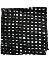 The Tie Bar Pindot 100% Woven Silk Pocket Square