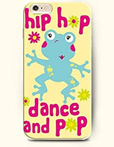 iPhone 6 Plus Case 5.5 Inches Frog Wanna Dance and Pop - Hard Back Plastic Case OOFIT Authentic