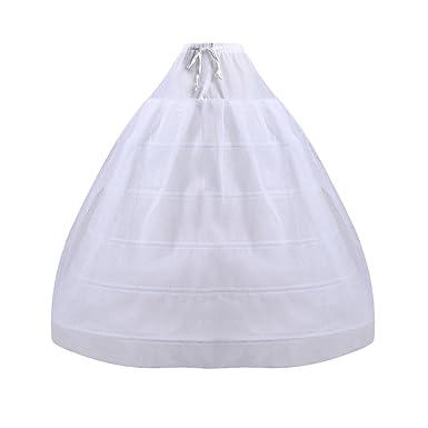 VENI MASEE Damen 6 Hoops Hochzeitssuite Petticoat Kleid Krinoline ...