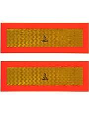 markeringsborden ECE 70 56,5 x 19,5 cm alu rood/oranje