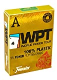 Fournier WPT Gold Edition Plastic Poker Playing Card Decks - Blue, Red (Red) by Fournier