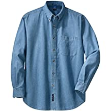 Port & Company Men's Long Sleeve Value Denim Shirt