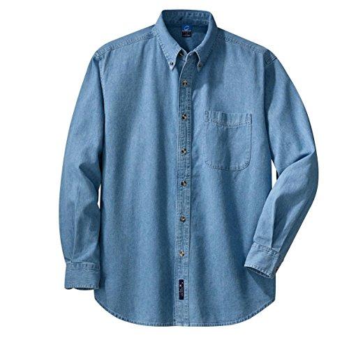 faf9dde0c82 Port   Company Men s Long Sleeve Value Denim Shirt