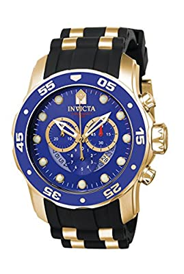 Invicta Men's 6983 Pro Diver Collection Chronograph Blue Dial Black Polyurethane Watch