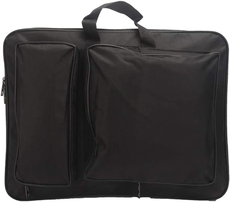 8k Art Portfolio Carry Bag Multipurpose Artist Portfolios Case Adjustable Shoulder Bag Tote Drawing Board Backpack with Pockets for Sketching Painting Art Supplies Storage Transport 15 x 18.9 Inch
