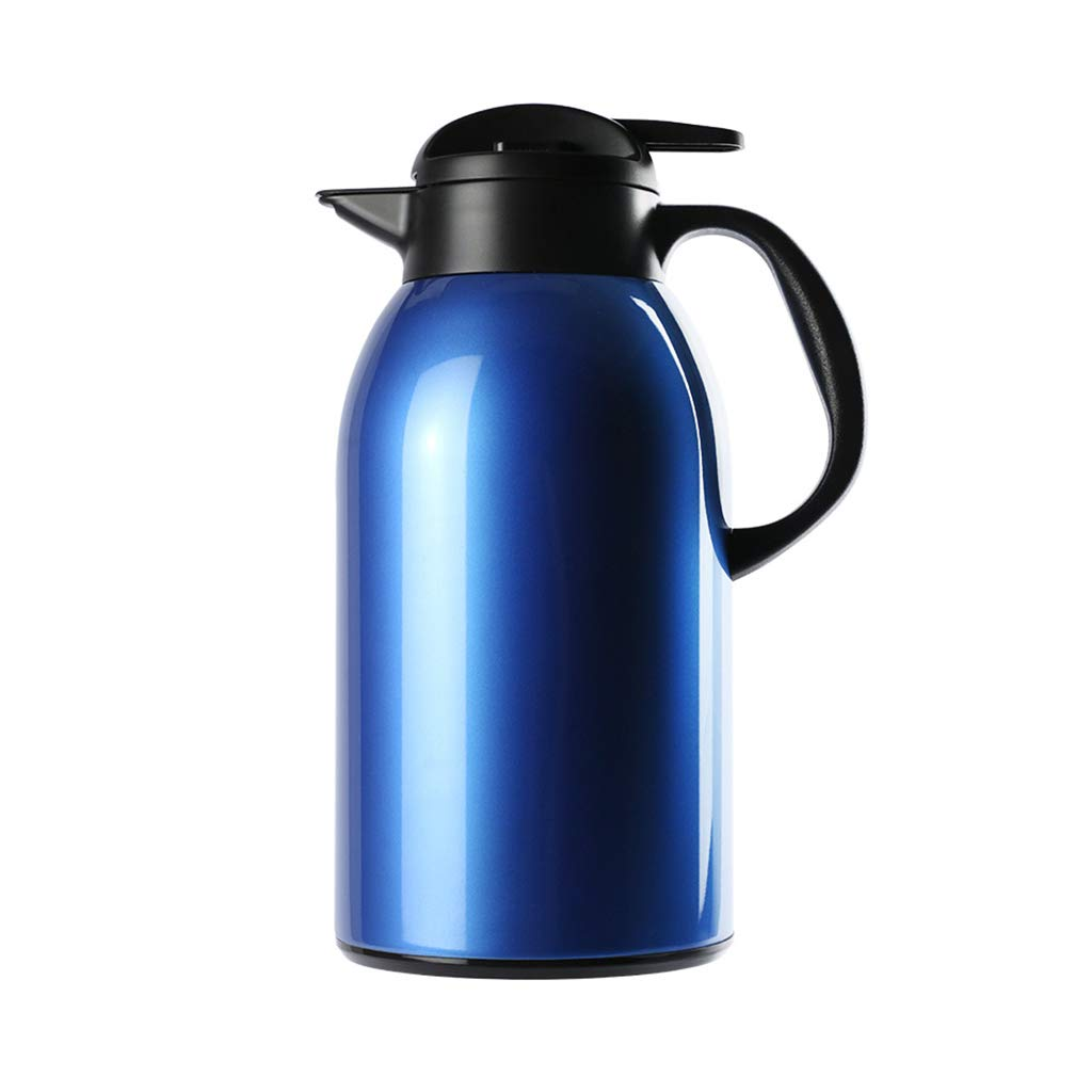 LRXG Thermoskannen,2.2L-Vakuumkrug 304 Edelstahl-Doppelwand-Vakuumisolierter Saft/Milch- / Tee-Isoliergefäß Mit Großer Kapazität D2