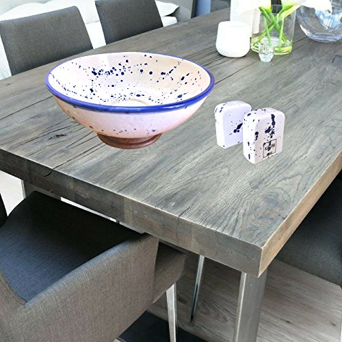 Kauri Ceramic Salt Shaker Set - White Splatter Salt & Pepper Shakers for Cooking and Kitchen Decor by Kauri (Image #4)