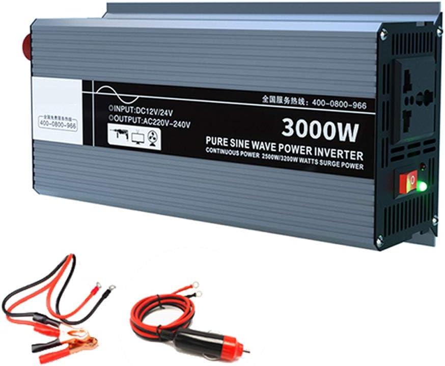 1 AC-Ausgang Auto-Wechselrichter DC12V 24V Bis AC220V-240V Modifizierter Sinus-Wechselrichter Mit Batterieklemme Und Zigarettenanz/ünder