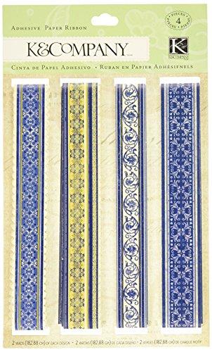 Paper Ribbon Adhesive (K&Company Blue Awning Adhesive Paper Ribbon)