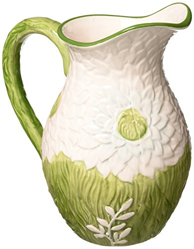 Mikasa Silk Floral Green Pitcher, 64-Ounce ()