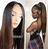 JINGRT 360 Lace Frontal Wigs Brazilian Virgin Human Hair Wigs Glueless Hair Ombre Straigh Wigs for Black Women 150 Density (20 inch 150Density, Ombre 1B/30)