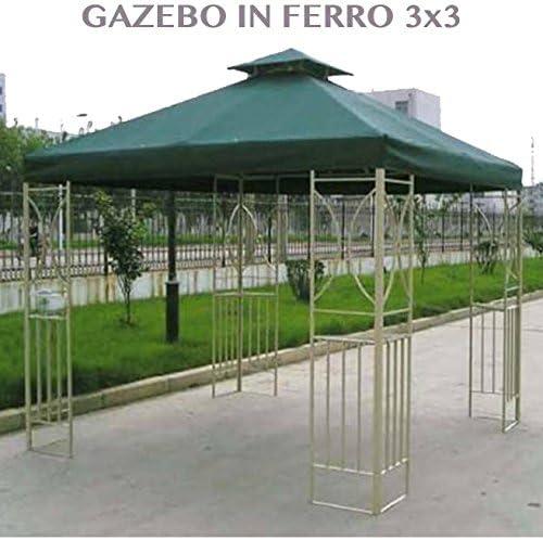 Carpa de jardín de Hierro 3 x 3 para Muebles Exterior jardín Profesional: Amazon.es: Jardín