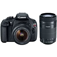 Canon EOS Rebel T5i DSLR Camera with 18-55mm Lens + 55-250mm f/4-5.6 IS STM Lens Bundle